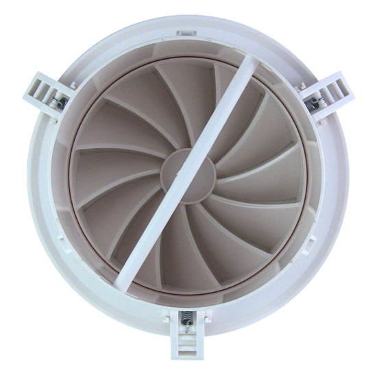 Ceiling Perforated Sheet Grills p 92 moreover Hvac Plan Symbols further Underfloor air distribution as well AirScape MVS Round Plastic Diffusers With NO D er Swirl Blade Face further Ducted Fan Coil Units. on hvac ceiling diffuser