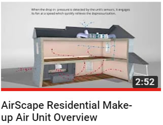 Airscape Residential Make Up Air Unit