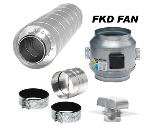 Hvacquick - Fantech Component Kitchen Ventilation Kits