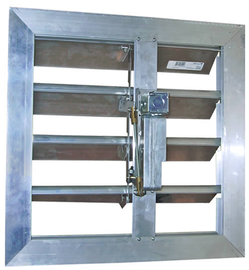 Hvacquick canarm leader motorized and gravity dampers for Motorized outside air damper