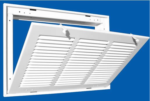 Hvac Return Air Grill : Truaire return air filter grille configuration