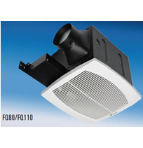 Hvacquick fantech fq series quiet ceiling mounted fans 4 duct for Residential exhaust fans for bathrooms