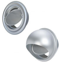 Seiho SB and SFB Series Aluminum Dryer Vents with Backdraft Flapper
