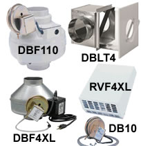 Fantech DBF Series Dryer Booster Fans