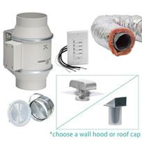 Hvacquick S P Complete Fan Bath Ventilation Kits