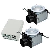 Hvacquick fantech pbw exterior mounted fan bathroom exhaust kits for Residential exhaust fans for bathrooms