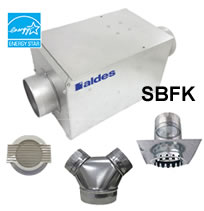 Hvacquick aldes sbfk and mbfk series single port bath fan kits for Residential exhaust fans for bathrooms