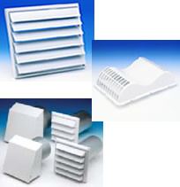 Hvacquick fantech wall soffit exhaust covers for Residential exhaust fans for bathrooms