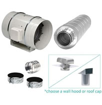 S&P Fan Kitchen Ventilation Kits